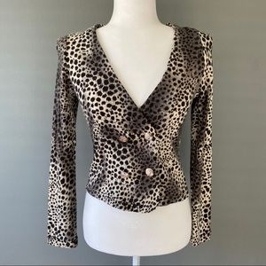 NWT Beulah Cheetah sweater size small
